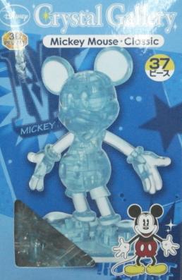 立體3D拼圖 米奇張手--透明藍