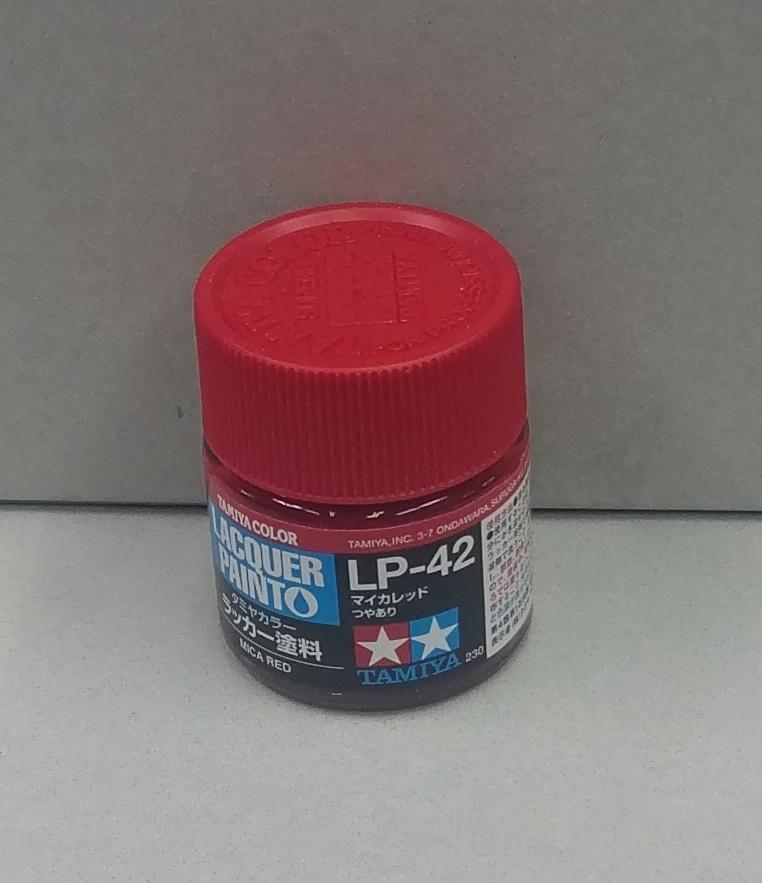 田宮硝基漆LP-42 金屬紅色