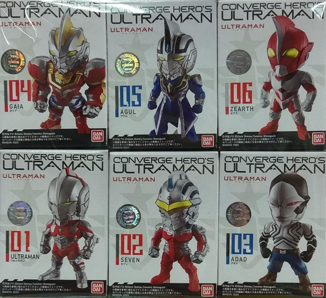 (盒玩)CONVERGE HEROS 超人力霸王 全6種
