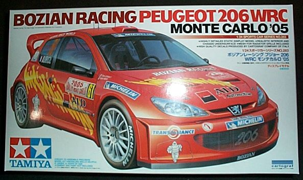 田宮車 No.283 BOZIAN RACING PEUGEOT 206 WRC